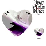 Purple Christmas Tree Playing Cards 54 (Heart)  Front - Club4