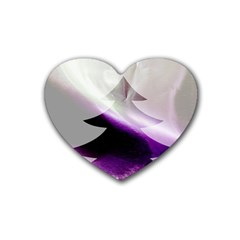 Purple Christmas Tree Heart Coaster (4 pack)