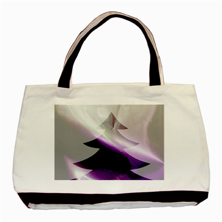 Purple Christmas Tree Basic Tote Bag (Two Sides)
