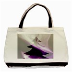 Purple Christmas Tree Basic Tote Bag (Two Sides) Back