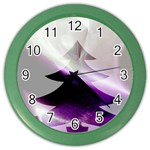 Purple Christmas Tree Color Wall Clocks Front