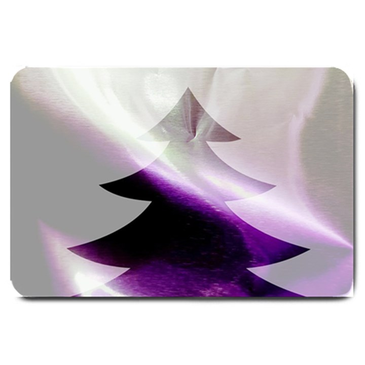 Purple Christmas Tree Large Doormat