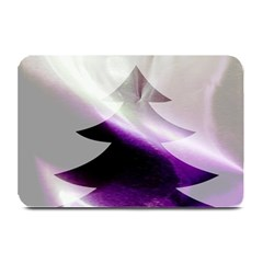Purple Christmas Tree Plate Mats