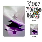 Purple Christmas Tree Multi-purpose Cards (Rectangle)  Back 16