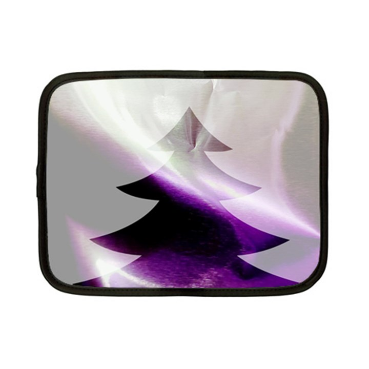 Purple Christmas Tree Netbook Case (Small)