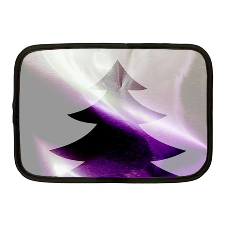 Purple Christmas Tree Netbook Case (Medium)