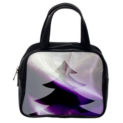 Purple Christmas Tree Classic Handbags (one Side)
