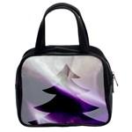 Purple Christmas Tree Classic Handbags (2 Sides) Front