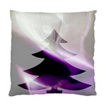 Purple Christmas Tree Standard Cushion Case (Two Sides) Back