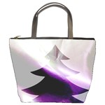 Purple Christmas Tree Bucket Bags Front