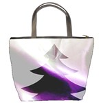 Purple Christmas Tree Bucket Bags Back