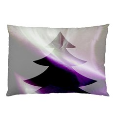Purple Christmas Tree Pillow Case