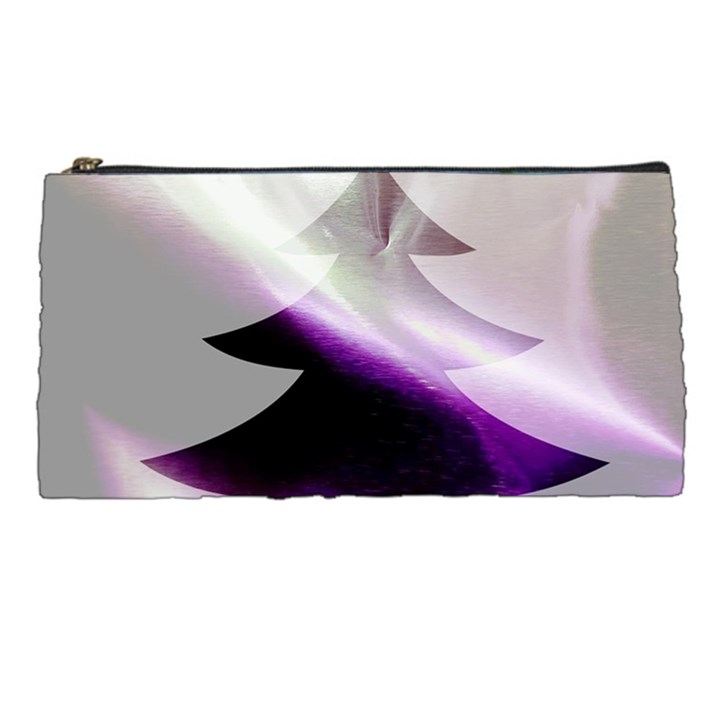 Purple Christmas Tree Pencil Cases