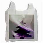 Purple Christmas Tree Recycle Bag (One Side) Front