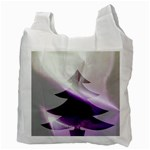 Purple Christmas Tree Recycle Bag (Two Side)  Back