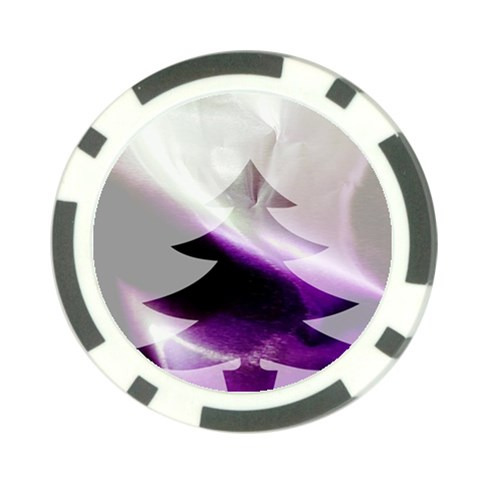 Purple Christmas Tree Poker Chip Card Guards (10 pack)