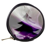 Purple Christmas Tree Mini Makeup Bags Back