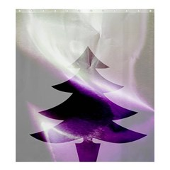 Purple Christmas Tree Shower Curtain 66  x 72  (Large)