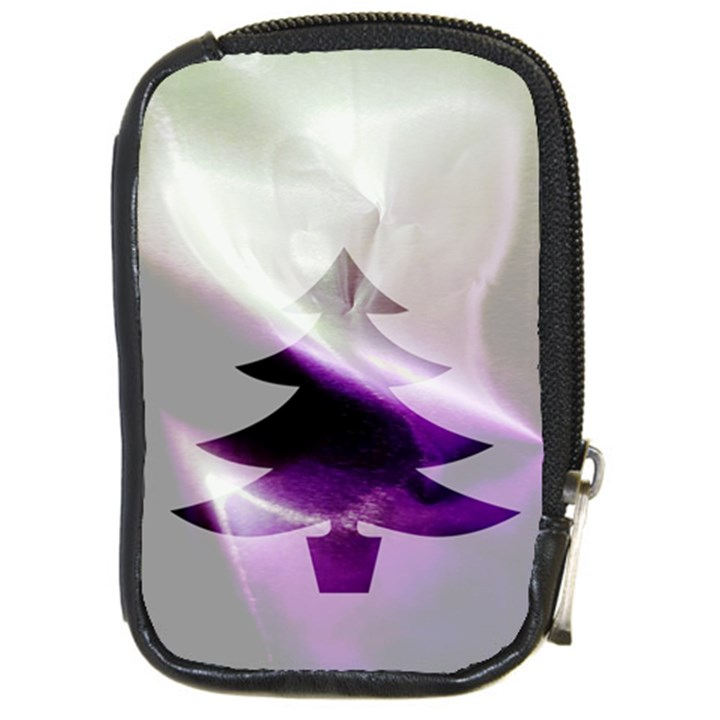 Purple Christmas Tree Compact Camera Cases