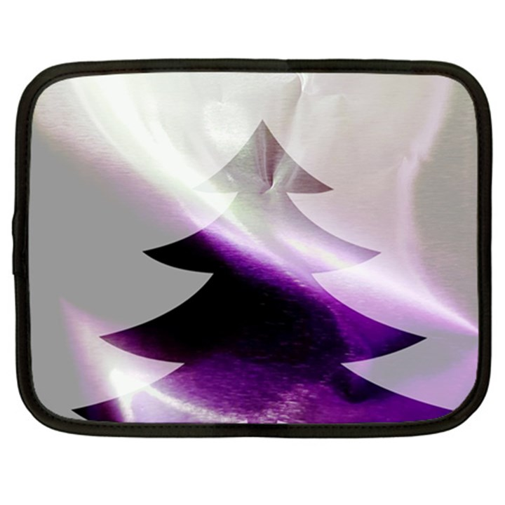 Purple Christmas Tree Netbook Case (XL)
