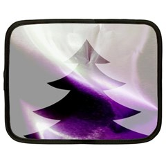 Purple Christmas Tree Netbook Case (XXL)