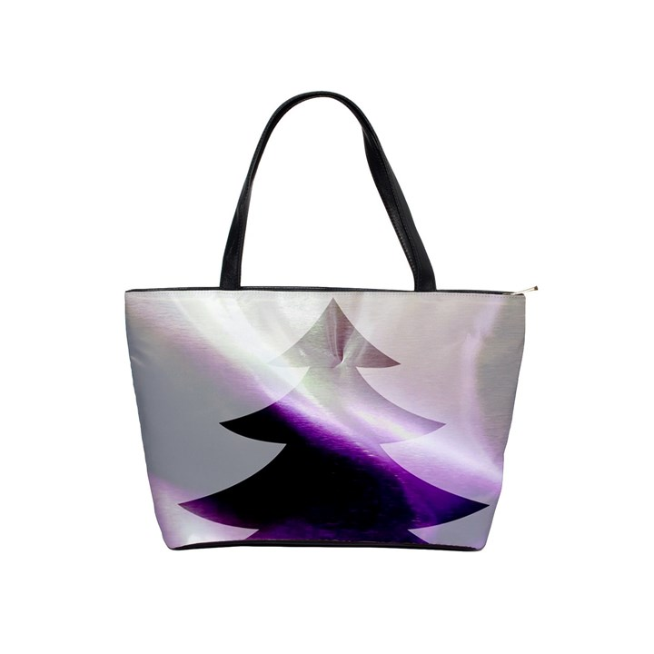 Purple Christmas Tree Shoulder Handbags