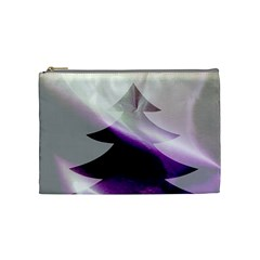 Purple Christmas Tree Cosmetic Bag (Medium)