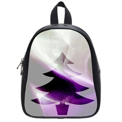 Purple Christmas Tree School Bags (small)