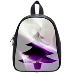 Purple Christmas Tree School Bags (Small)  Front