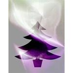 Purple Christmas Tree Large Memo Pads 4.125 x5.5  Memopad