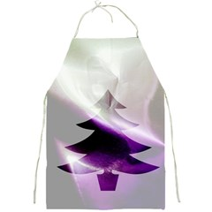 Purple Christmas Tree Full Print Aprons