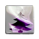 Purple Christmas Tree Memory Card Reader (Square) Front