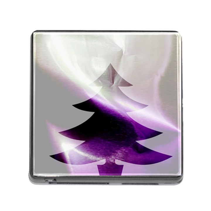Purple Christmas Tree Memory Card Reader (Square)