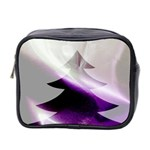 Purple Christmas Tree Mini Toiletries Bag 2-Side Front
