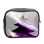 Purple Christmas Tree Mini Toiletries Bag 2-Side Back