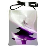 Purple Christmas Tree Shoulder Sling Bags Front