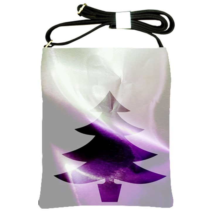Purple Christmas Tree Shoulder Sling Bags