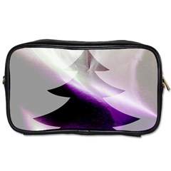Purple Christmas Tree Toiletries Bags 2 Side