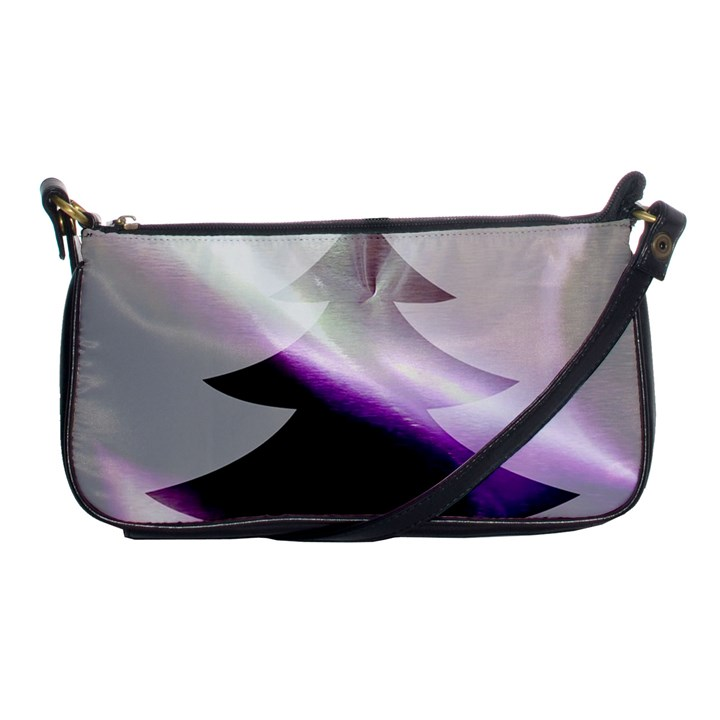 Purple Christmas Tree Shoulder Clutch Bags
