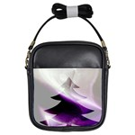 Purple Christmas Tree Girls Sling Bags Front
