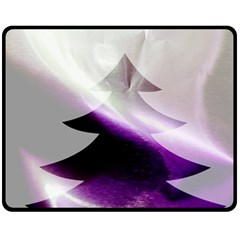 Purple Christmas Tree Fleece Blanket (Medium)
