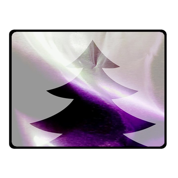 Purple Christmas Tree Fleece Blanket (Small)