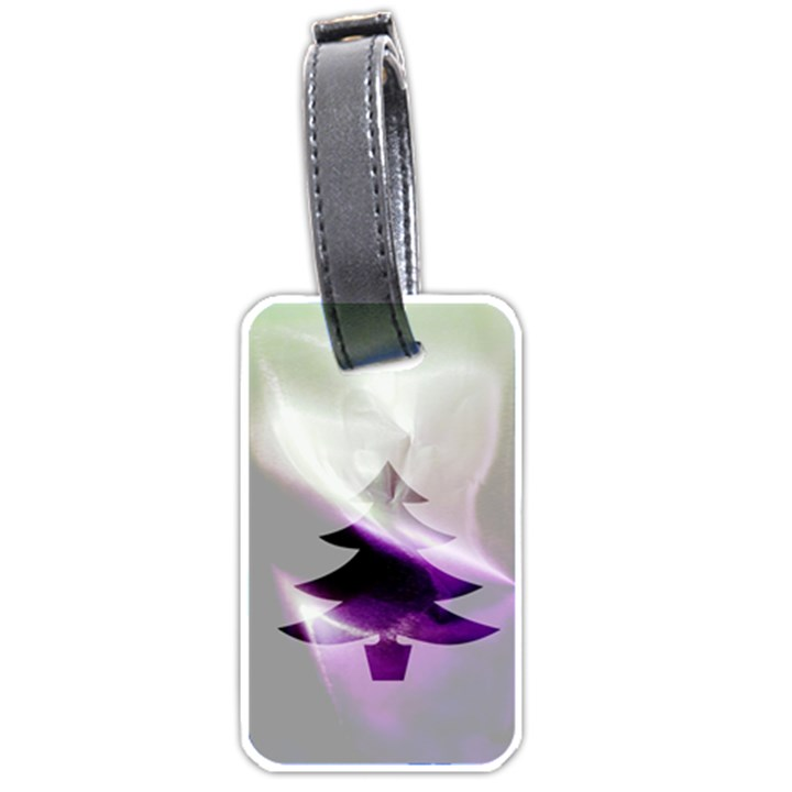 Purple Christmas Tree Luggage Tags (One Side)