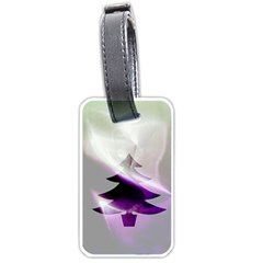 Purple Christmas Tree Luggage Tags (Two Sides)