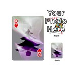 Purple Christmas Tree Playing Cards 54 (Mini)  Front - HeartQ