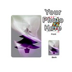 Purple Christmas Tree Playing Cards 54 (Mini)  Back