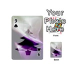 Purple Christmas Tree Playing Cards 54 (Mini)  Front - Spade9