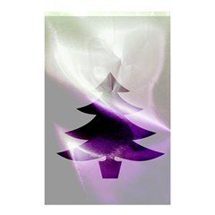 Purple Christmas Tree Shower Curtain 48  x 72  (Small)