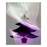 Purple Christmas Tree Shower Curtain 60  x 72  (Medium)  54.25 x65.71 Curtain