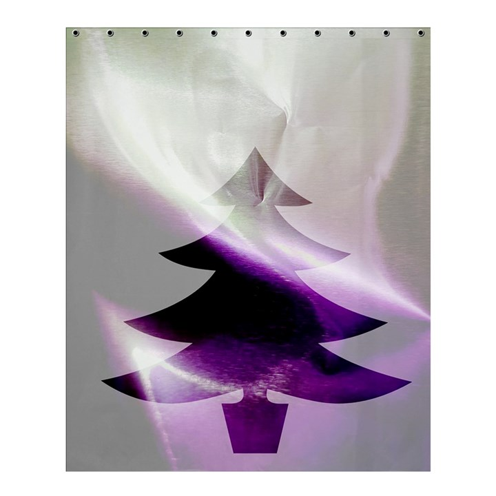 Purple Christmas Tree Shower Curtain 60  x 72  (Medium)